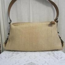 Fossil Tan With Brown Leather Trim Shoulder Handbag Photo