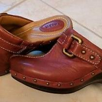 Fossil Tara Brown Leather Buckle Clogs/mules Shoes Women's 7 New Photo