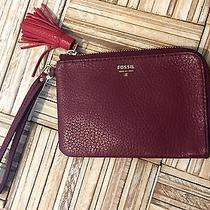 Fossil Tara Wristlet Wallet Wine With Red Msrp 55.00 Nwt  Photo