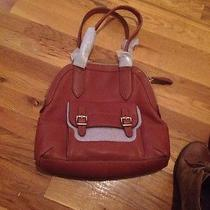 Fossil Tate Dome Satchel Cognac Nwt 198 Photo