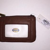 Fossil Taylor Saddle Color Wallet With Clear Id Slotcoins & Key Ring Zipper Photo
