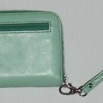 Fossil Teal Leather Clutch Wristlet Wallet - Excellent Condition Photo