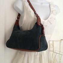 Fossil Teal Suede Cute Little Zipper Handbag. Photo