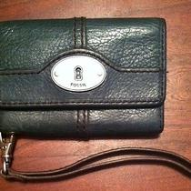 Fossil Teal Wallet Fits Iphone 4leather Wristlet Photo