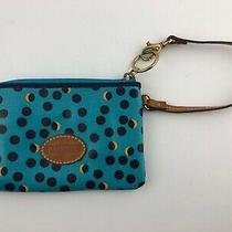 Fossil Teal With Dots Wallet Clutch Credit Card Holder  Photo