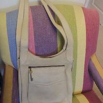 Fossil Thick Leather Ivory Vintage Retro Style Handbag Purse Photo
