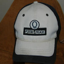 Fossil Trace  Baseball Cap Red   Flex One Size Very Nice Hat Heavy  Photo