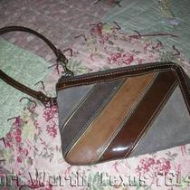 Fossil Tri-Colored  Fashionable Brown  Wallet / Wristlet Organizer Very Stylish Photo
