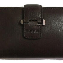 Fossil Trifold Brown Leather Womens Wallet Photo