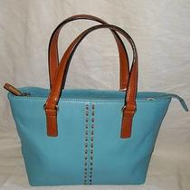 Fossil Turquoise Leather Small Tote Handbag Purse Bag Shoulder Bag Zb7013 Euc Photo