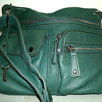 Fossil Very Cute Small Blue Green Leather Sutter Messenger Crossbody Bag Vgc Photo