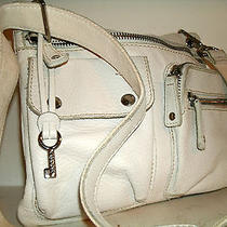 Fossil Very Cute Small White Leather Sutter Messenger Crossbody Bag Roomy Vgc Photo