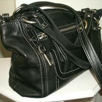 Fossil Very Nice Medium Black Glove Leather Shoulder Bag Very Roomy in Euc Photo