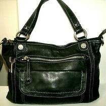 Fossil Very Nice Medium Black Glove Leather Shoulder Bag Very Roomy in Euc Photo