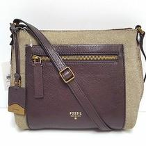 Fossil Vickery Leather Crossbody (Metallic) Photo