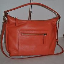 Fossil Vickery Pebble Leather Monarch Orange Shoulder Bag New With Tag Photo