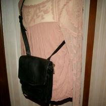 Fossil Vintage 1954 Black Leather Crossbody Organizer Messenger Bag Purse 75082 Photo