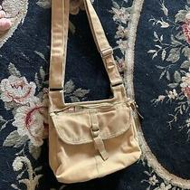 Fossil Vintage Authentic Classic Tan Fabric Crossbody Messenger Bag Photo