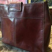 Fossil Vintage Brown Chestnut Leather 1954 Stitched Purse Grunge Hipster Photo