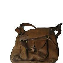 Fossil Vintage Brown Genuine Leather Shoulder Bag Purse Photo