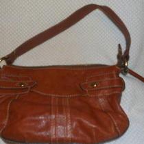 Fossil Vintage Brown Leather Shoulder Bag Purse  Photo