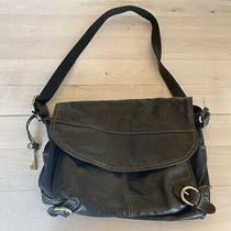 Fossil Vintage Front Flap Crossbody Messenger Laptop Bag in Soft Black Leather Photo