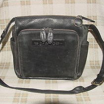 Fossil Vintage Genuine Black Leather Purse Shoulder Bag W/ Key 75082 / 1954 Photo