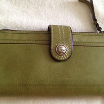 Fossil Vintage Green Clutch Wallet- Beautiful - Photo