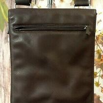 Fossil Vintage Heavyweight Leather Purse Messenger Bag Crossbody Brown Wallet Photo