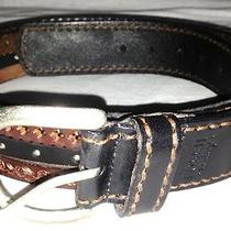 Fossil Vintage Leather Belt 4 Brown Strands Embossed Studded M / L 36