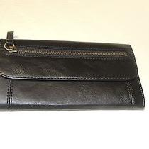 Fossil Vintage Legacy Clutch in Black Leather Nwt Photo