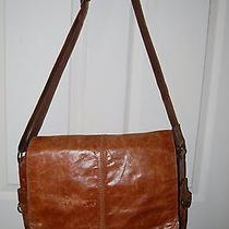 Fossil Vintage Men's  Brown Leather Messsenger/laptop Bag  16'' Photo