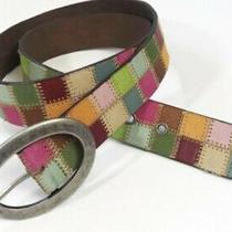 Fossil Vintage Multicolor Leather Belt Size Medium Photo