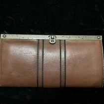 Fossil Vintage Reissue Brown Leather Frame Clutch Purse Wallet  Nwt Photo