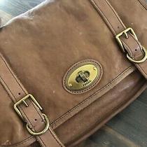 Fossil Vintage Reissue Brown Leather Satchel Messenger  Medium Size Photo