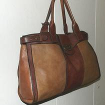 Fossil Vintage Reissue Weekender 2tone Brown Leather Tote Brief Bag Purse Zb3039 Photo