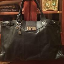 Fossil Vintage Reissue Weekender Tote Black Rare Xl Handbag Photo