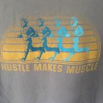 Fossil Vintage Retro Hustle Makes Muscle T-Shirt M Medium Men's 100% Cotton  Photo