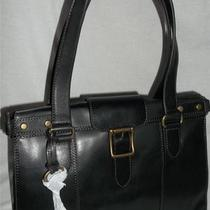 Fossil Vintage Revival East/west Satchel Shoulder Bag Handbag Black 218 Nwt Photo