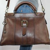 Fossil Vintage Revival Large Brown Leather Shouldr Hobo Satchel Slouch Purse Bag Photo