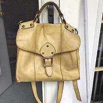 Fossil Vintage Revival Satchel Yellowleather Satchel Crossbody Messenger Handbag Photo