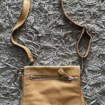 Fossil  Vintage Tan Brown Leather Shoulder Key  Messenger Bag Photo