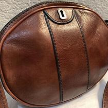 Fossil Vintage Whiskey Brown Leather Messenger Crossbody Shoulder Bag Photo