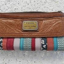 Fossil Vintage Woman's  Wallet With Colored Strips Photo
