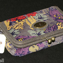 Fossil Vri Frame Cosmetic Case Dark Floral Sl3845992 Nwt Nwt Photo
