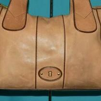 Fossil Vtg Reissue Leather Pebbled Beige Shoulder E/w Tote Carryall Purse Bag Photo