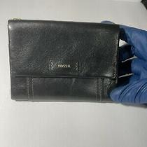 Fossil Wallet Black Leather Photo