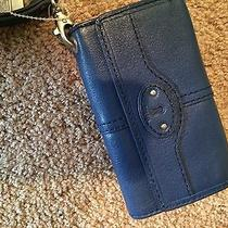 Fossil Wallet Blue With Tags New Photo