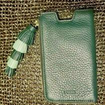 Fossil Wallet Clutch Pouch  Green Genuine Leather With 4 Tier Tassle Photo