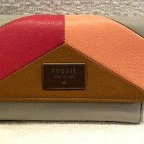 Fossil Wallet Dawson Patchwork Multifunctional Pink Multi Sl6913664 Nwt 70 Photo
